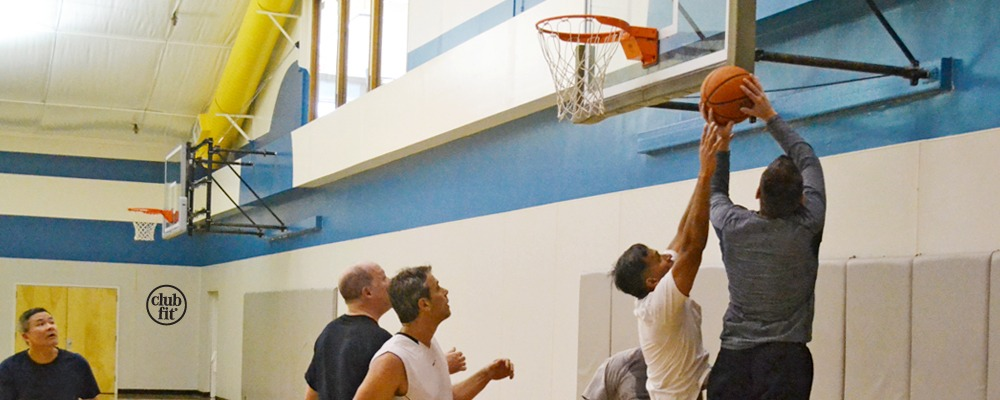 Sports Gymnasium Club Fit Briarcliff: Men playing basketball