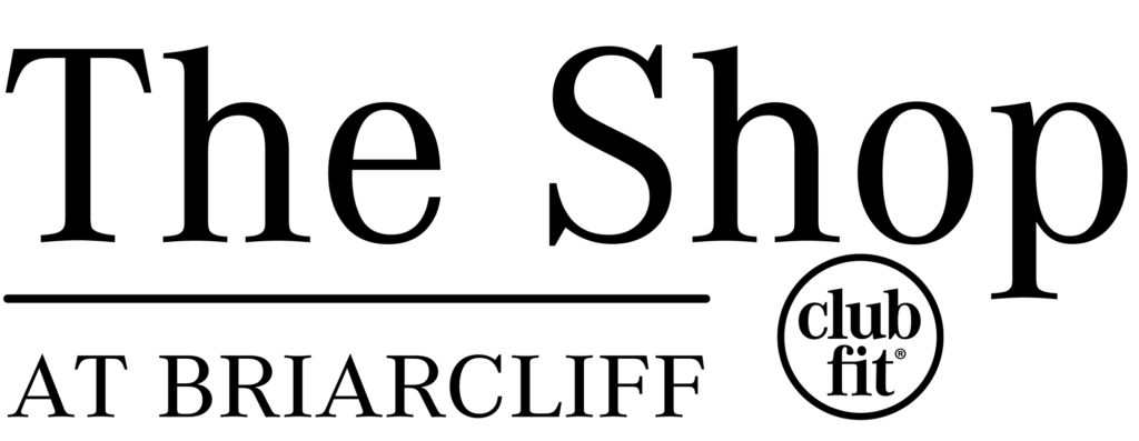 The Shop at Briarcliff text witn clubfit logo