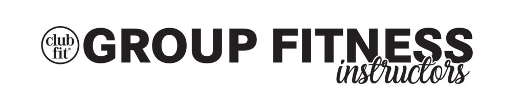 Text Group Fitness instructors with clubfit logo