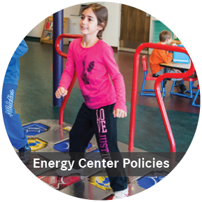 Energy Center Policies: Girl playing to dance