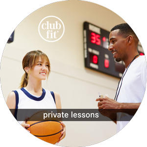 private lessons: intructor teaching a girls with a ball on her hands