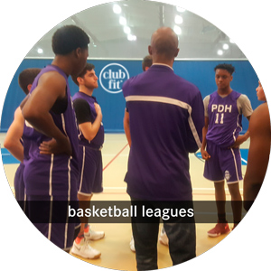 basketball leagues: coach with a male basketball team