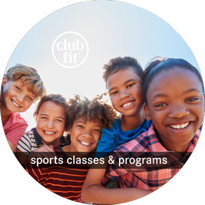 sports classes and programs: group of children smiling