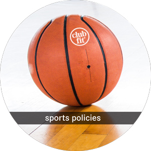 sports policies: ball in the floor with clubfit logo